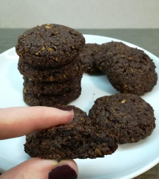 Galletas de chocolate veganas, sin glúten y sin azúcar